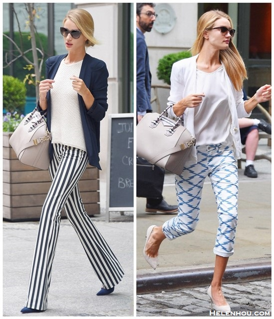 Models off Duty 2014; How to wear printed pants;