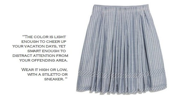 Madewell pleated shirtstripe skirt