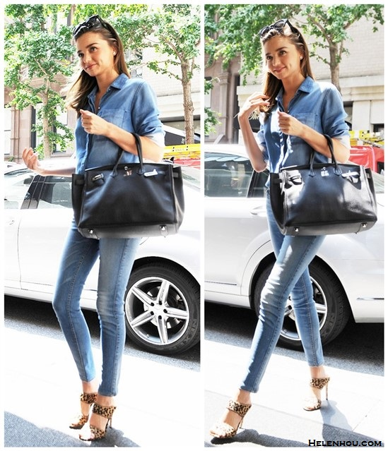 spring summer 2014 outfit ideas; how to wear denim on denim,  Models off duty