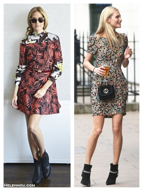Celebrities street style 2014; How To Wear Floral Trend;  Summer Outfit Ideas 2014;
