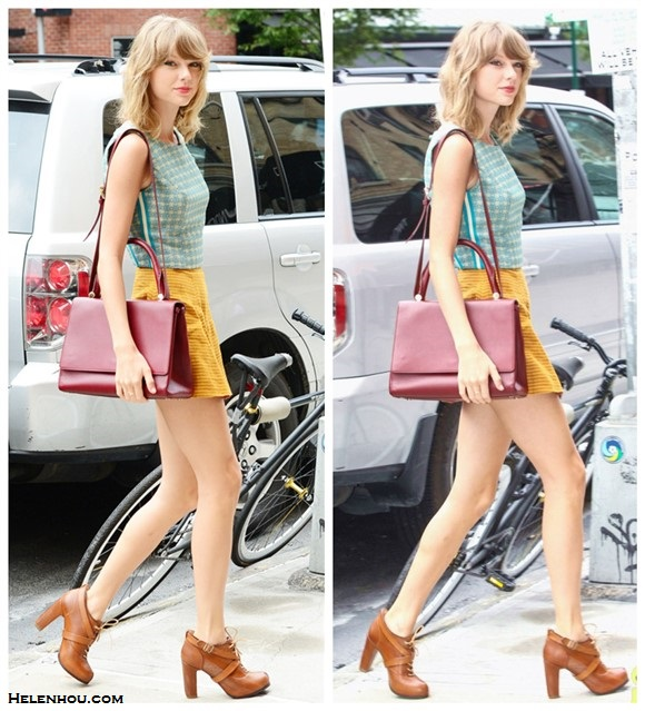 How to wear crop tops into fall; celebrity street style; late summer/early fall outfit ideas 2014;
