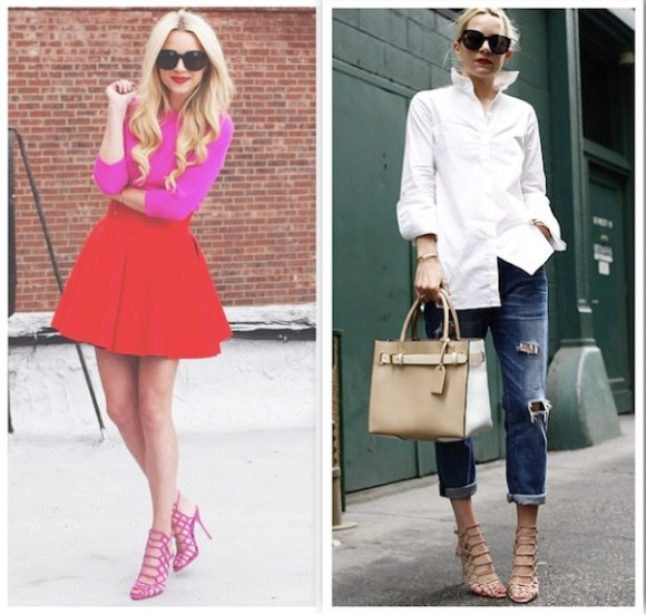 fashion blogger atlantic pacific blair eadie wears Schutz Juliana Caged Sandals
