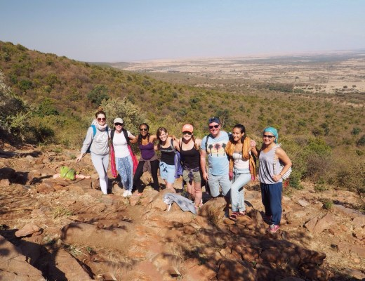 Hiking Siana Hill in the Masai Mara.