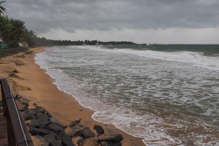 Thirangama Beach in monsoon season.