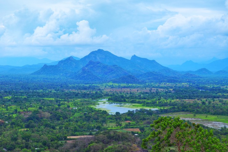 View from the top of Sigiriya Rock, Sri Lanka