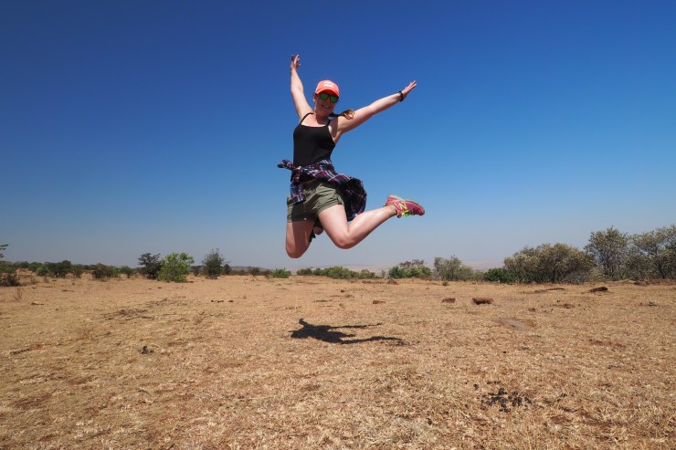 Hiking up Siana Hill, Masai Mara.