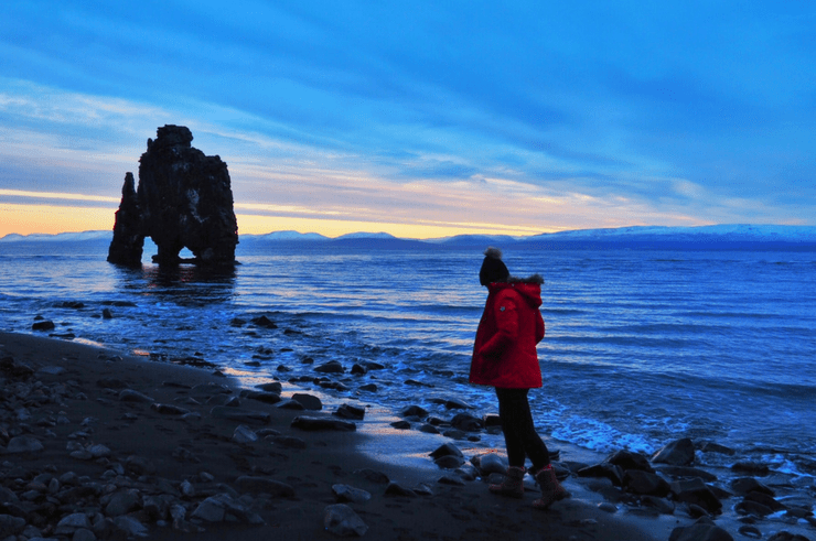 Hvítserkur in Iceland is thought to be a petrified troll!
