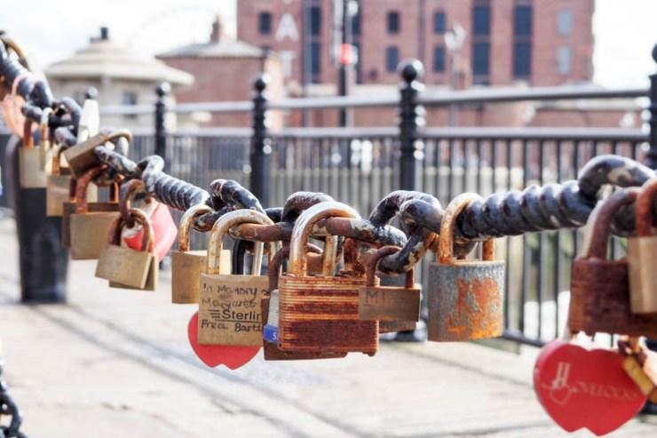 Love Locks in Liverpool