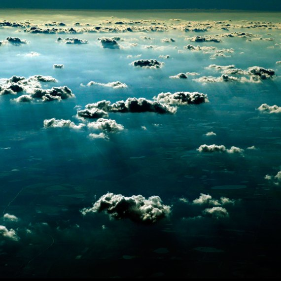 ©Jason Florio - 'Sky over Texas'. Color - Texas viewed through clouds from a plane