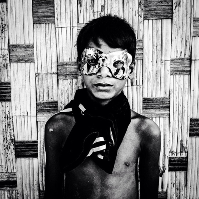 Boy in Mask, Myanmar © Jason Florio