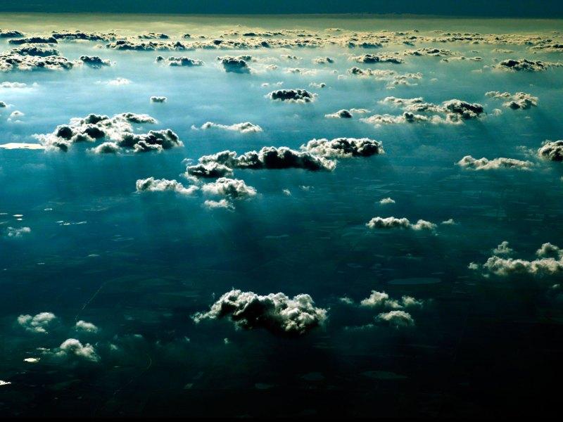 'Sky Over Texas' © Jason Florio-color flying over Texas through the clouds