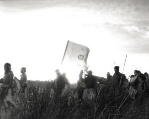 KWIRA (Tarahumara) #161, Mexico ©Oskar Landi Black and white -ceremony parade