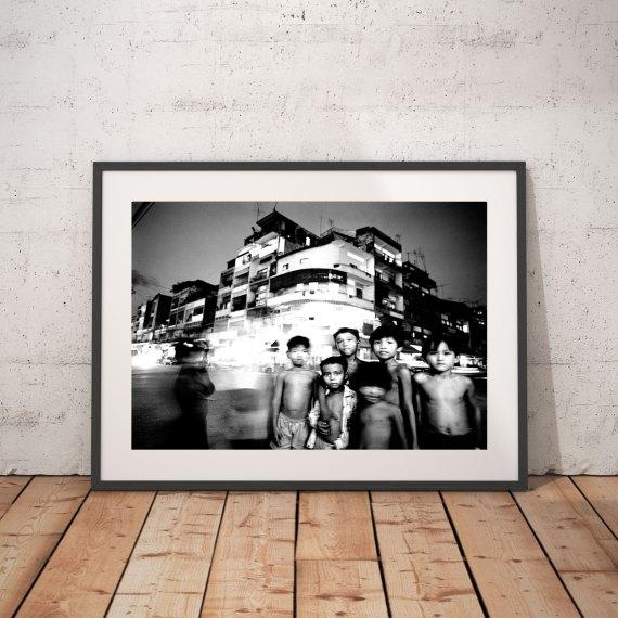'STREET LIFE' CAMBODIA © Jason Florio-young boys on night streets