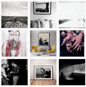 Montage of prints - framed and unframed