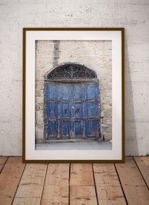 disappearingMalta - Blue Doors, vintage storefront, Birkirkara, Malta ©Helen Jones-Florio framed photography prints