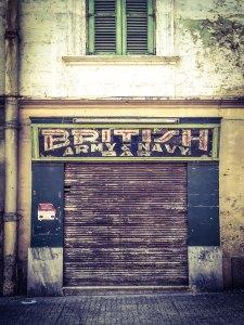 disappearingMalta - British Army & Navy Bar, retro storefront, Birkirkara,, Malta ©Helen Jones-Florio photography prints