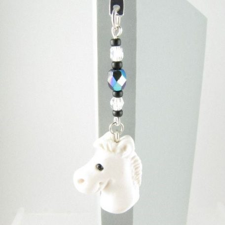 White horse bookmark