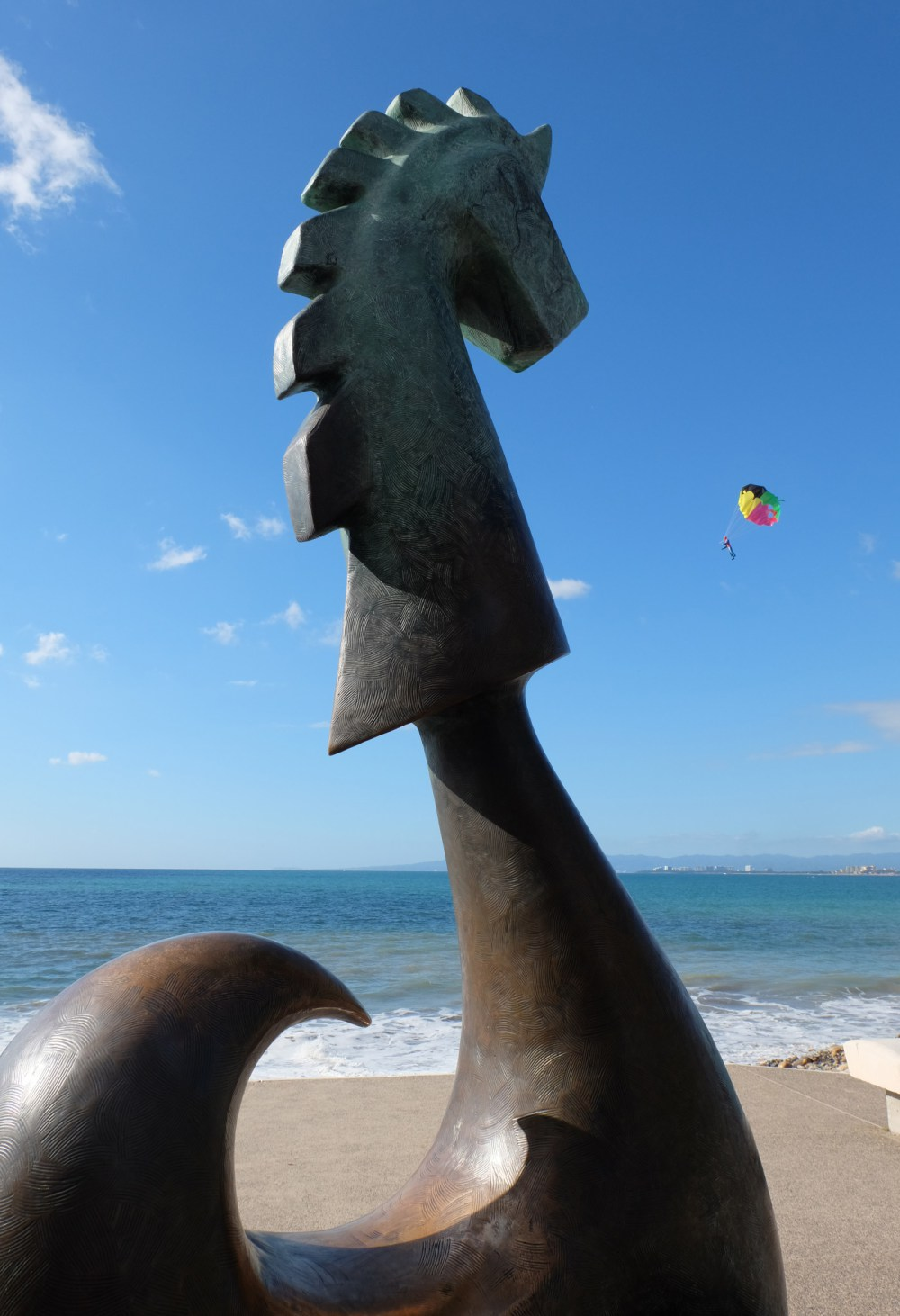 A sculpture on the Malecon