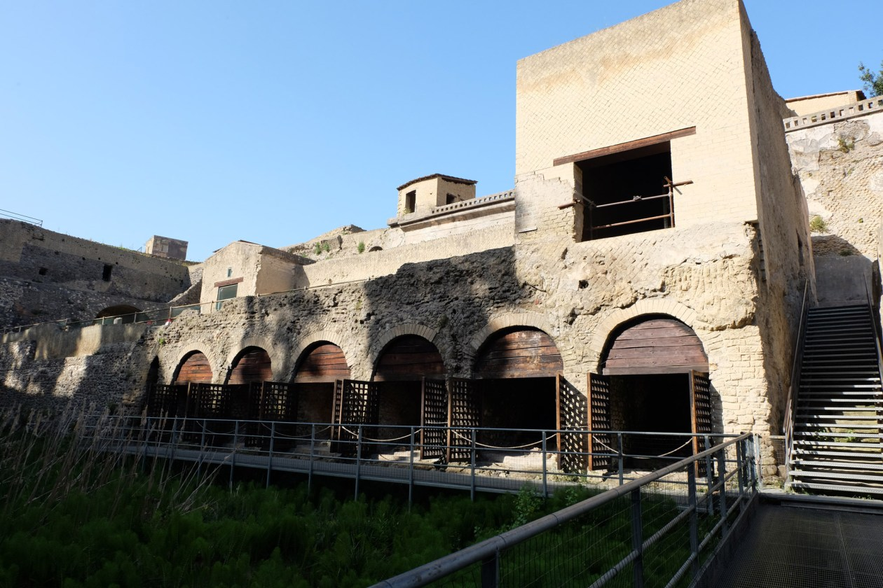 The boat houses in Herculaneum. I couldn't bring myself to take pictures of the skeletons.