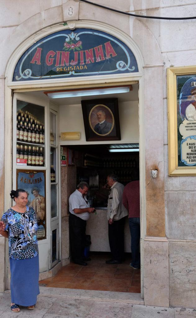 The A Ginjinha bar onLargo De São Domingos