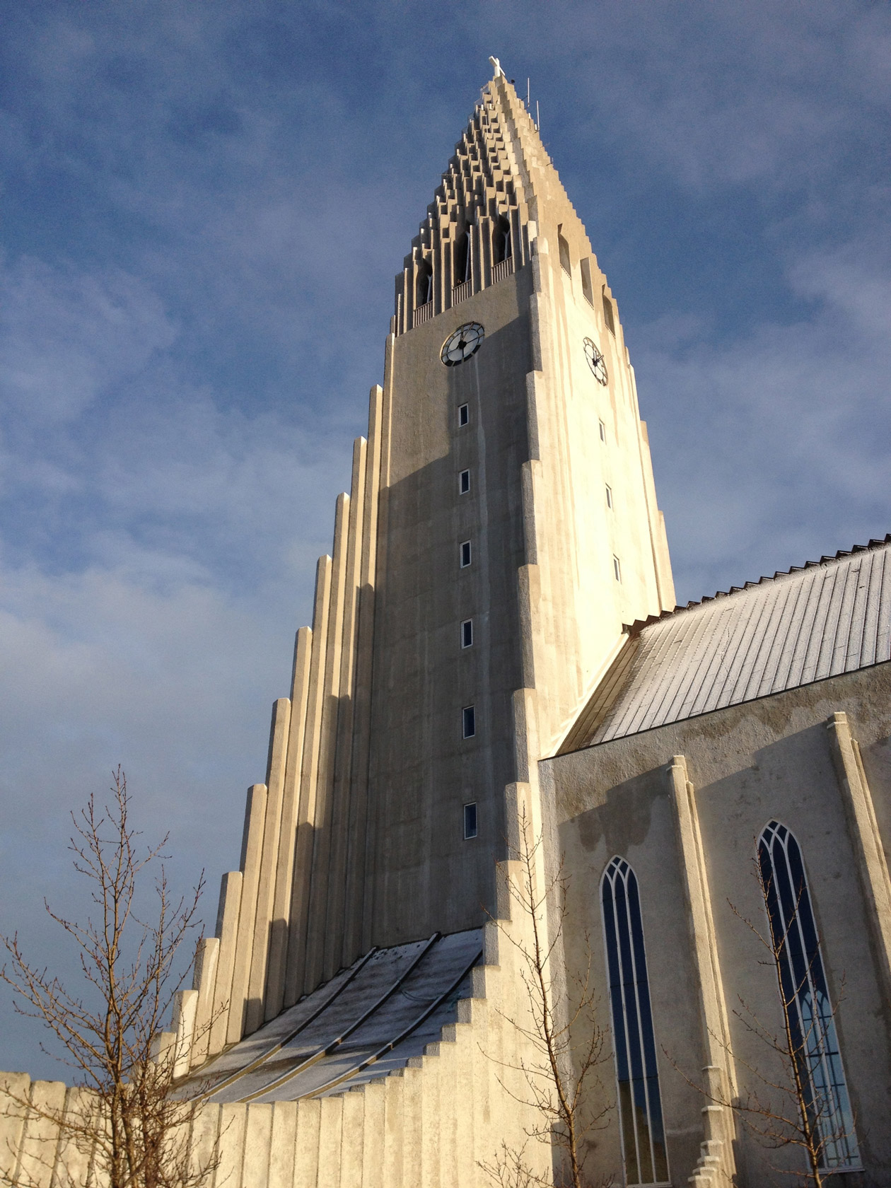 Hallgrímskirkja was inspired by the basalt columns formed when lava cools