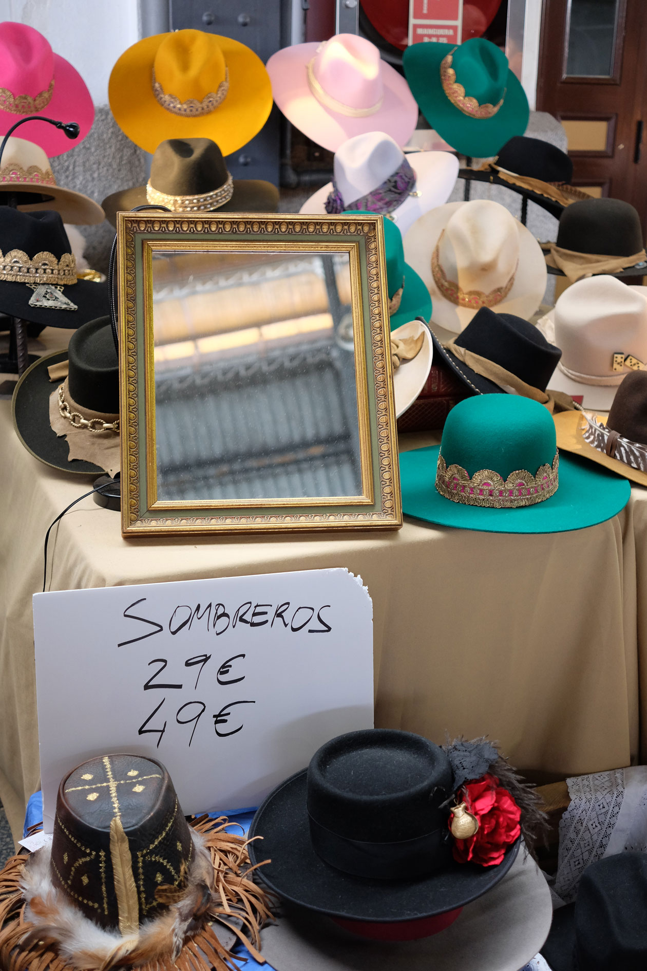 If you're looking for vintage hats in Madrid, the Mercado de Motores is the place to be