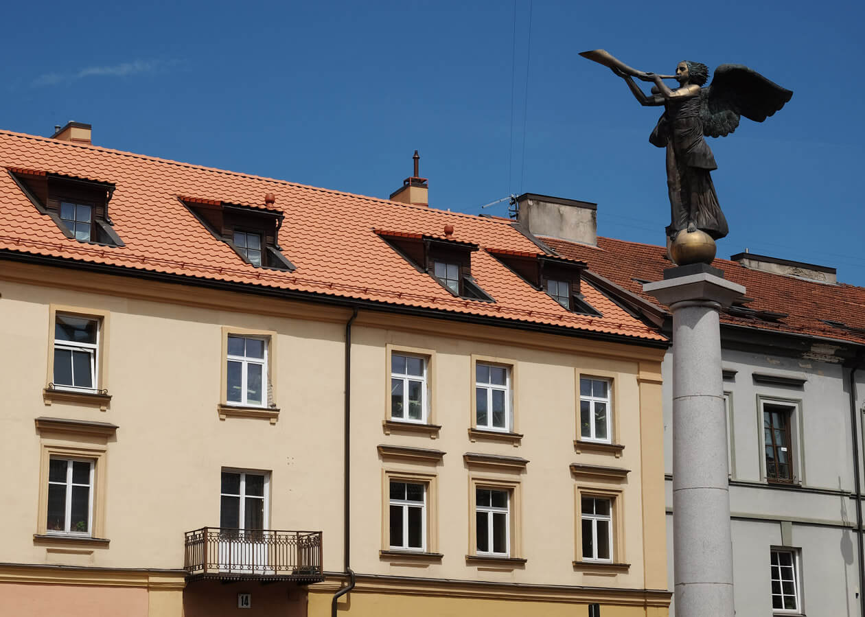Uzupis's Guardian Angel statue watches over the Republic
