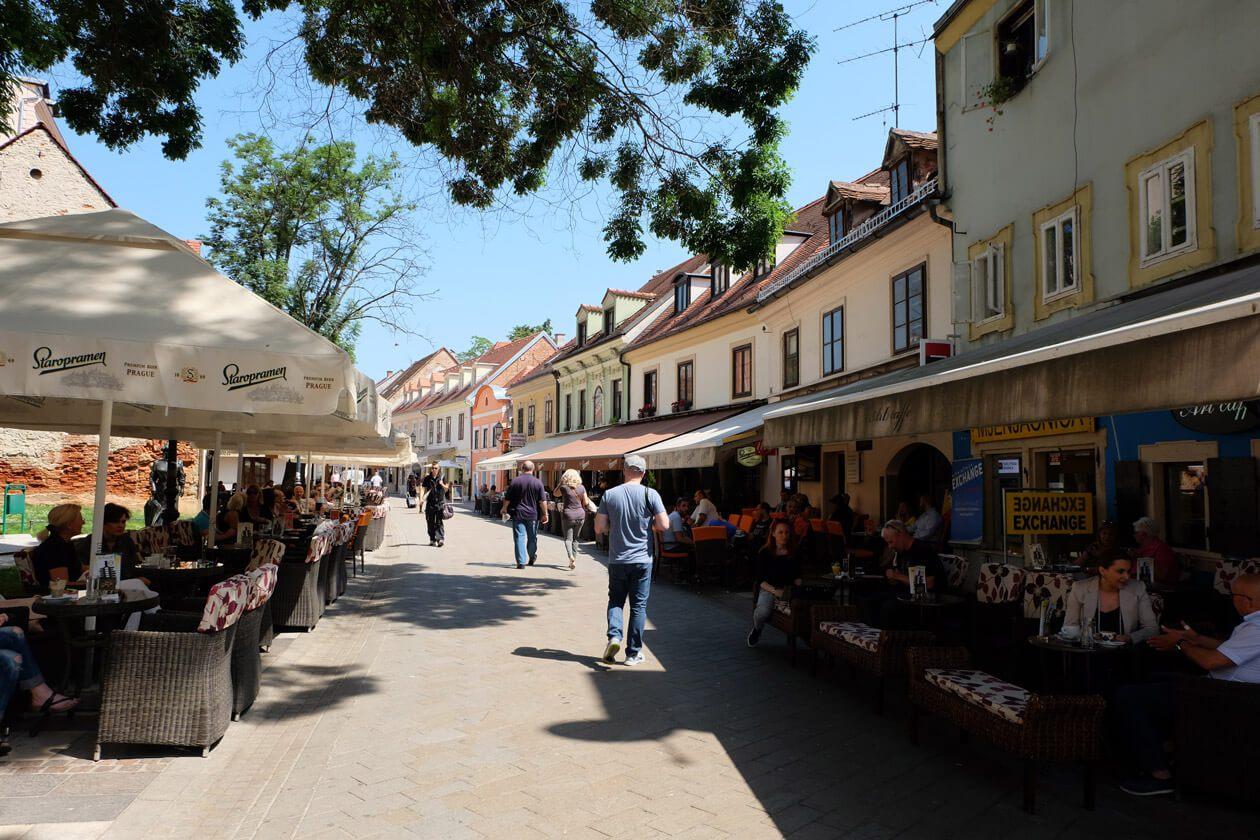 Tkalčićeva Street in the centre of Zagreb