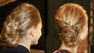 Chignons with Beads for Glittering Nights