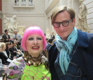 Zandra Rhodes with Hamish Bowles