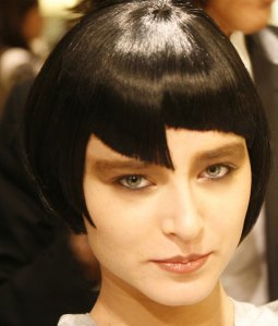 1920s Style, Modern, Abstract Hair Cut On Wig- 2011