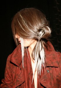 Gothic Pretty Hair, Loose Knot, Grey Lights – 2015