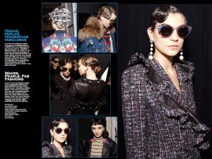 Tweed Pearls Glasses Waves NYFW - 2017