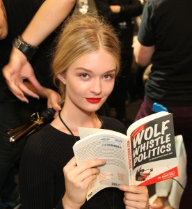 Lovely Model Reading A Book @ NYFW – 2018