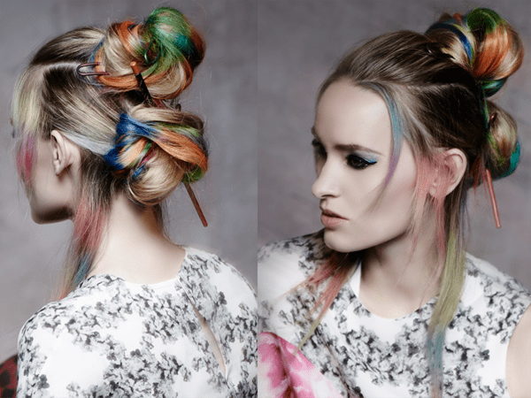 Hippie Bun Top Knots, Rainbow Vibe – 2017