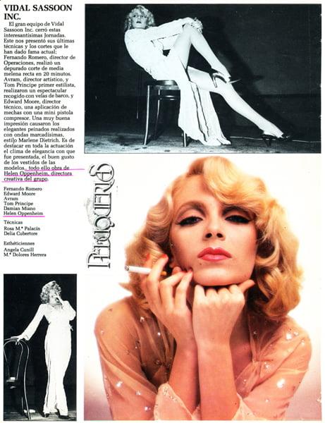 Vidal Sassoon's Marlene Dietrich – 1980