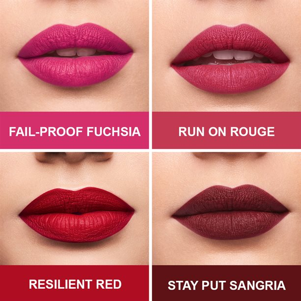 Choose From 10 Shades Of Our Long -Lasting ,Super-Comfortable Matte Lip Colour .