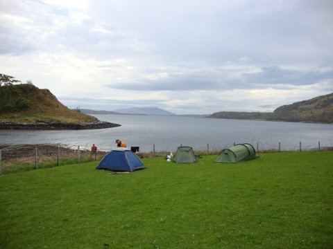 Looking west from the campsite