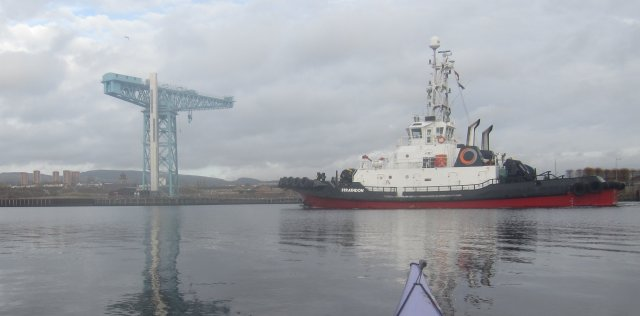 Totan Crane and MV Strathdon