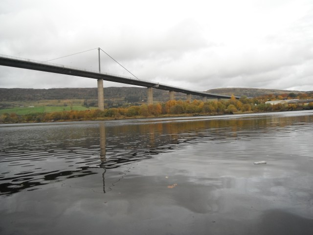 The Erskine Bridge from Boden Boo beach