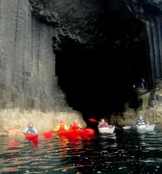 Group at mouth of Fingal's Cave