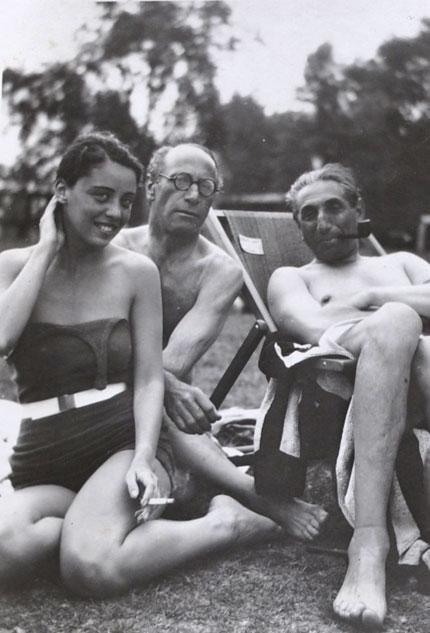 Moissey Kogan and Alfred Flechtheim, Ascona