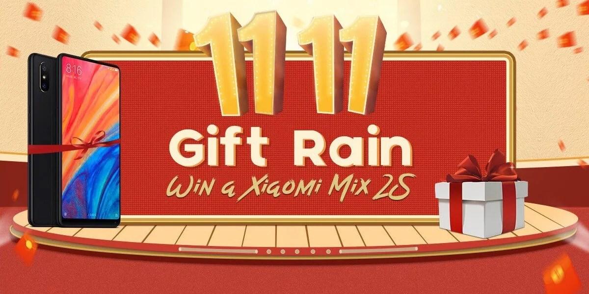 Geekbuying gift rain event
