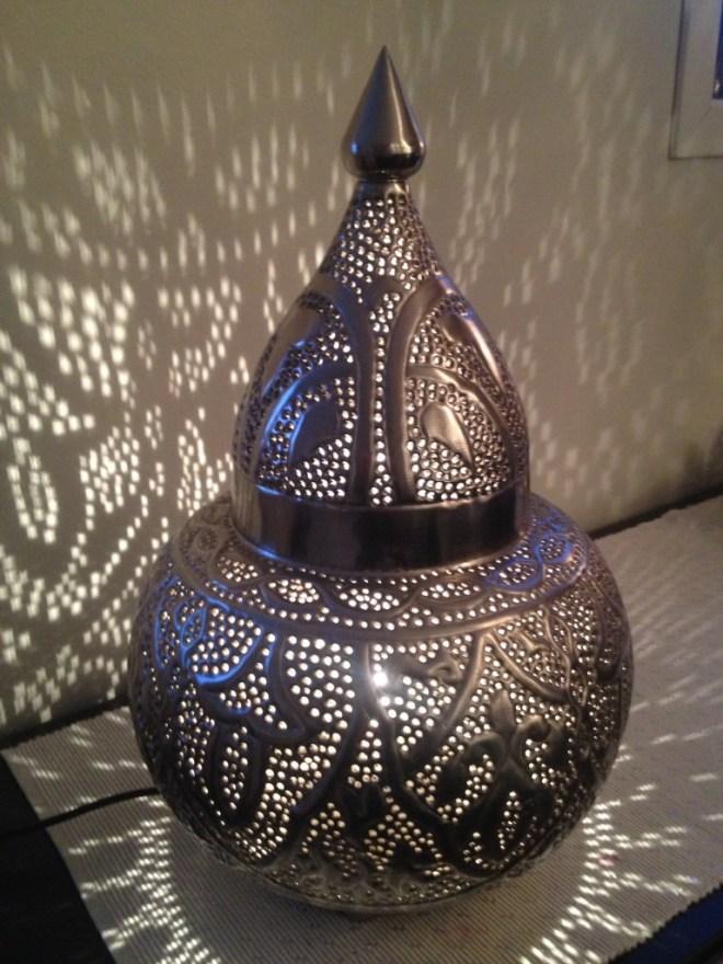 Marokkansk inspirert lampe.