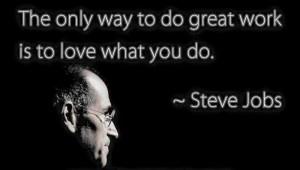 Eneste måten å gjøre en unik jobb er å elske det du gjør!