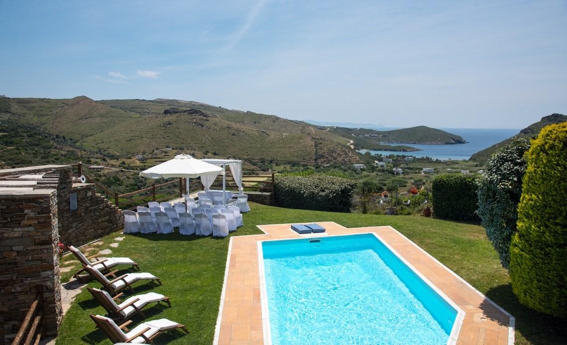 Heliades Villas wedding venue in Andros Greece