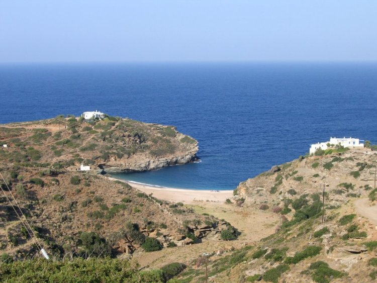 Vitali beach Andros