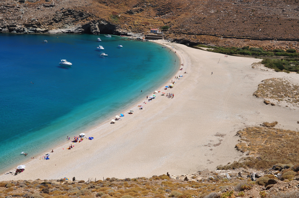 Golden Sand Beach in Andros