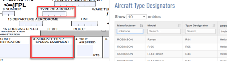 how to find plane type by flight number