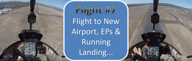 Helicopter Training Flight #7 - Flight to New Airport, ALT & Turbulence EPs & Running Landing...